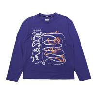 NAPA  BY MARTINE ROSE S-SENALES L/S TEE PURPLE