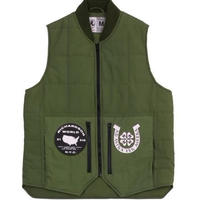 RICHARDSON EMBELLISHED QUILTED VEST GREEN