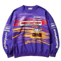 BLACK EYE PATCH RACING CREW SWEAT PURPLE