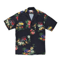 RHUDE    HAWAIIAN SS SHIRTS  BLACK