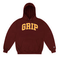 CLASSIC GRIP HOODIE WITH 90s PUFF PRINT BURGUNDY