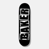 BAKER SKATEBOARDS BRAND LOGO - BLACK/WHITE DECK 8.0