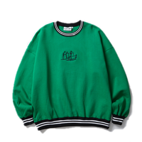 BLACK EYE PATCH GRAFF CREW SWEAT GREEN
