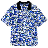 STUSSY  CORAL PATTERN SHIRT NAVY