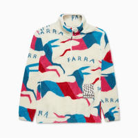 BY PARRA JUMPING FOXES SHERPA FLEECE OFF WHITE