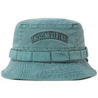 THISISNEVERTHAT OVERDYED JUNGLE BUCKET HAT GREEN