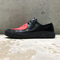 BOTH PARIS Rubber Patch Low-top BLACK/RED