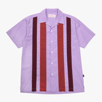 VICTORIA 70's OPEN COLLAR SHIRT PURPLE