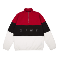 DIME 3 TONE FLEECE PULLOVER RED