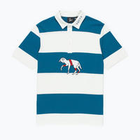 BY PARRA STRIPED GOAT POLO SHIRT WHITE GREEN