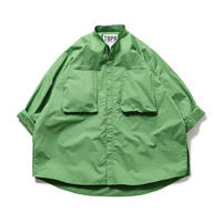 TIGHTBOOTH BAND COLLAR BIG SHIRT GREEN
