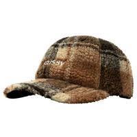 STUSSY SHERPA FLEECE LOW PRO CAP BROWN PLAID