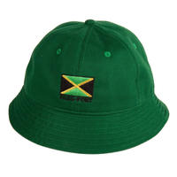 PASS~PORT JAMAICA ~ TWILL BUCKET HAT GREEN