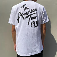 SSS WORLD CORP THE AMERICAN TOUR SHORT SLEEVE TEE WHITE