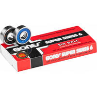 BONES  BEARINGS SUPER SWISS 6 BALLS 8 PACK