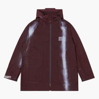 OAKLEY BY SAMUEL ROSS    SPRAY PRINT COAT   DARK WINE