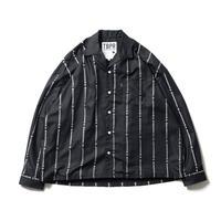 TIGHTBOOTH YUKICHI STRIPE SHIRT BLACK