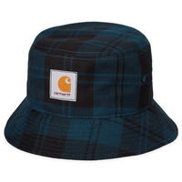 CARHARTT W.I.P PULFORD BUCKET HAT PULFORD CHECK , DUCK BLUE