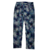 NAPA  BY MARTINE ROSE M-LEOPARD PANTS BLUE