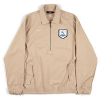 DIASPORA SKATEBOARDS  HALF ZIP FOOTBALL TOP KHAKI