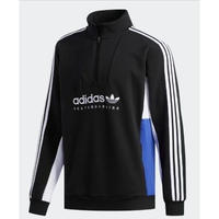 ADIDAS SKATEBOARDING APIAN SWEATSHIRT BLACK / WHITE / ACTIVE BLUE