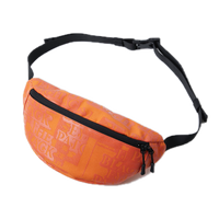 BLACK EYE PATCH LABEL WAIST POUCH ORANGE