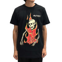 SSS WORLD CORP PRAY TEE FLAMING SKELETON BLACK