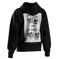 DUST LOVE ALONE HOODIE BLACK
