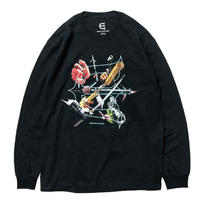 EVISEN SKATEBOARDS THE SEVEN ARMS L/S TEE BLACK