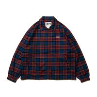 TIGHTBOOTH CHECK FULL ZIP SHIRT  RED