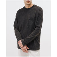 MAIDEN NOIR NATURAL DYED BLOCK LS JERSEY - GRAPHITE