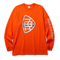 BLACK EYE PATCH EMBLEM L/S TEE ORANGE