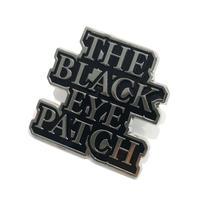 BLACK EYE PATCH   LOGO  PINS    SILVER