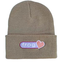 FROG SKATEBOARDS PERFECT HEART BEANIE OATMEAL