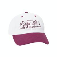 FROG SKATEBOARDS BLOCK LOGO HAT CHERRY
