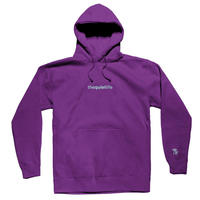 THE QUIET LIFE ORIGIN EMBROIDERED HOOD PURPLE