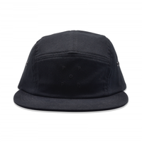 POP TRADING COMPANY  LOGO 5 PANEL HAT BLACK