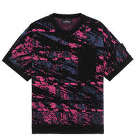 STONE ISLAND SHADOW PROJECT 502A3 GRAPHIC SHORT SLEEVE KNIT BLACK