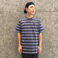 CIVILIST STRIPE TEE GREY/PURPLE