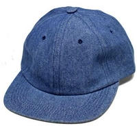HOTEL BLUE ARCH LOGO EMBROIDERED DENIM CAP BLUE