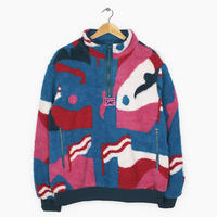 BY PARRA FLAG MOUNTAIN RACER PATTERN SHERPA FLEESE PULLOVER