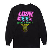 LIVINCOOL WORLD TOUR LONG SLEEVE T-SHIRT BLACK