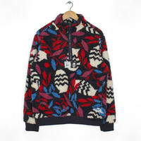 BY PARRA   SHERPA  FLEECE  PULLOVER  STILL  LIFE  WITH  PLANTS    MULTI