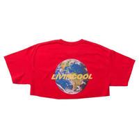 LIVINCOOL WORLD LOGO RED CROP TOP