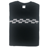 COMA BRAND  CHECKER TEE BLACK