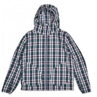 POP TRADING COMPANY POP SIMPLE HOODED JACKET NAVY/GREEN CHECK