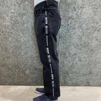 BLACK EYE PATCH  HANDLE WITH CARE DENIM PANTS  BLACK