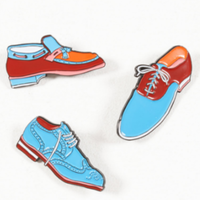 BY PARRA  SET OF 3 ENAMEL PINS SHOES
