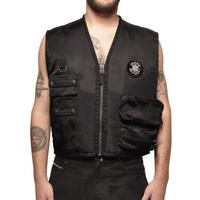 032C COSMIC WORKSHOP ROCK BOTTOM VEST BLACK