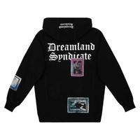 DREAMLAND SYNDICATE  ENVIRON /MENTAL HOODIE PATCHES BLACK